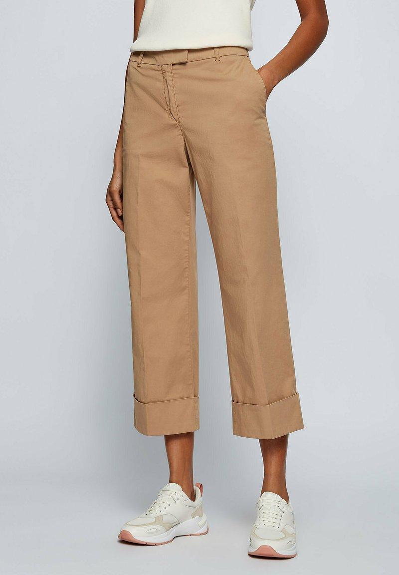 BOSS - TAROMA - Trousers - beige