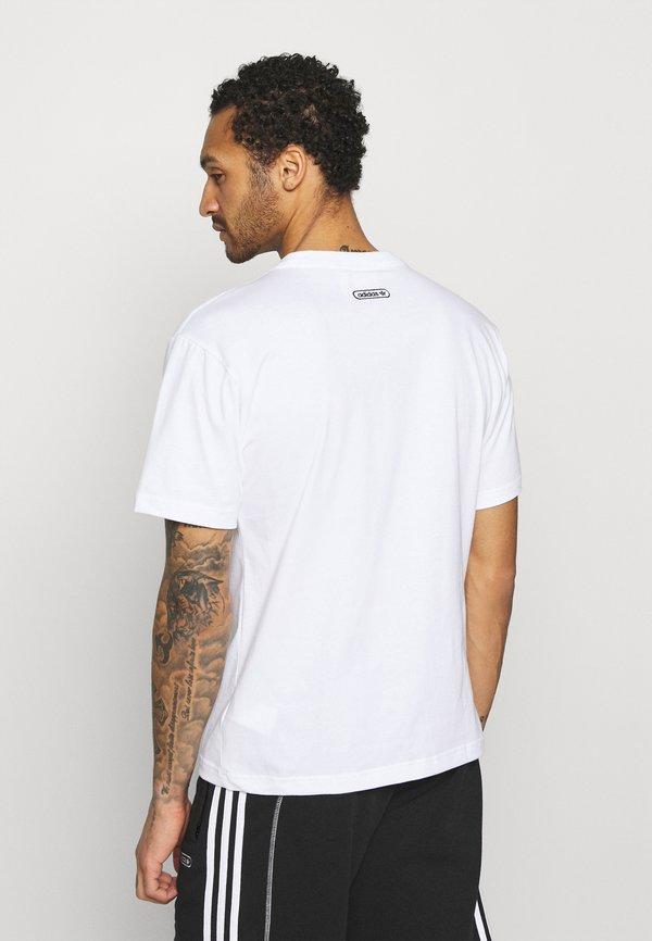 adidas Originals TEE - T-shirt z nadrukiem - white/biały Odzież Męska XMGT