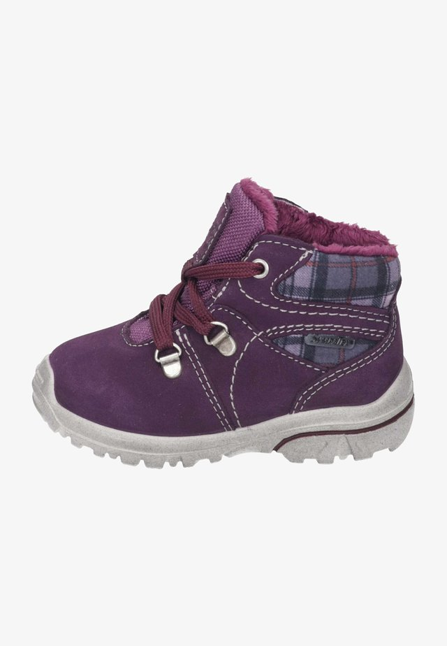 Baby shoes - merlot/purple
