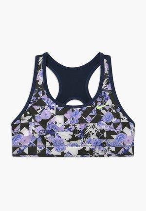 CLASSIC - Sports bra - black/midnight navy/barely volt