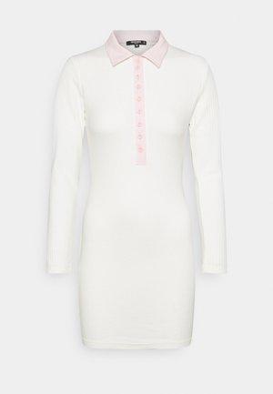 PLACKET MINI DRESS - Jumper dress - ivory