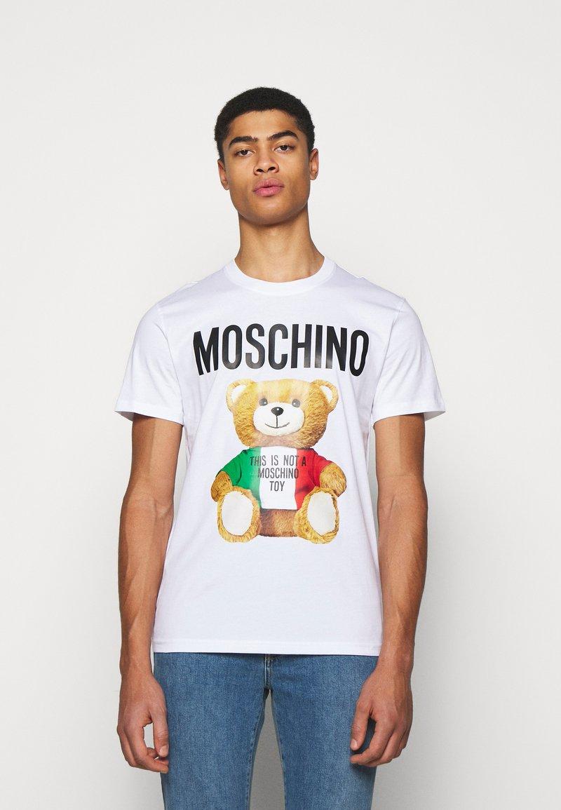 MOSCHINO - Print T-shirt - white