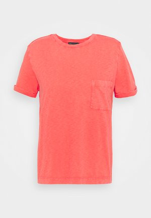 AUTH POCK TEE - Basic T-shirt - red