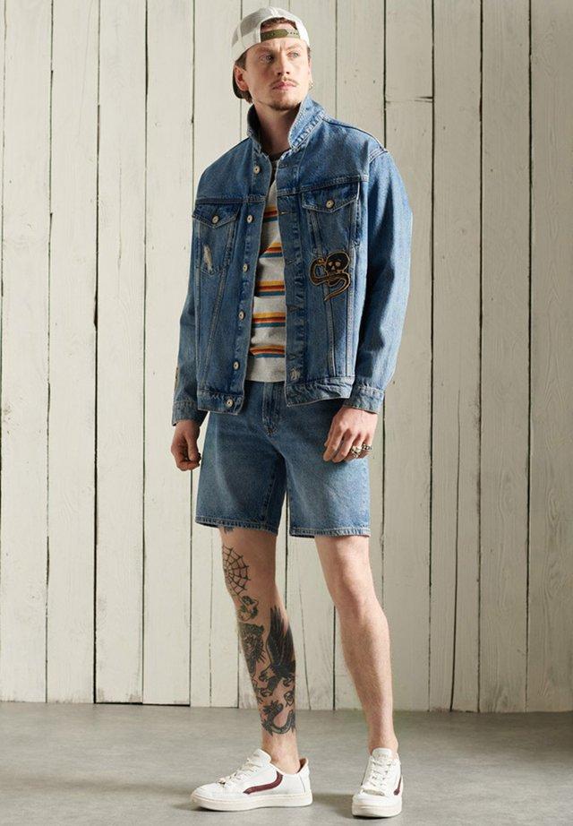 Spijkerjas - fresno blue repair
