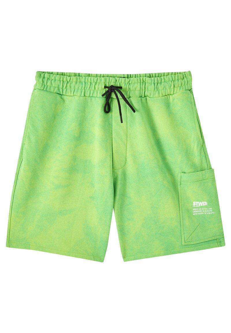 PULL&BEAR - Kraťasy - green
