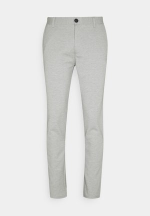 PANTS - Trousers - light grey melange