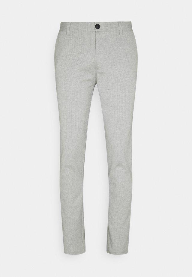 PANTS - Pantalon classique - light grey melange