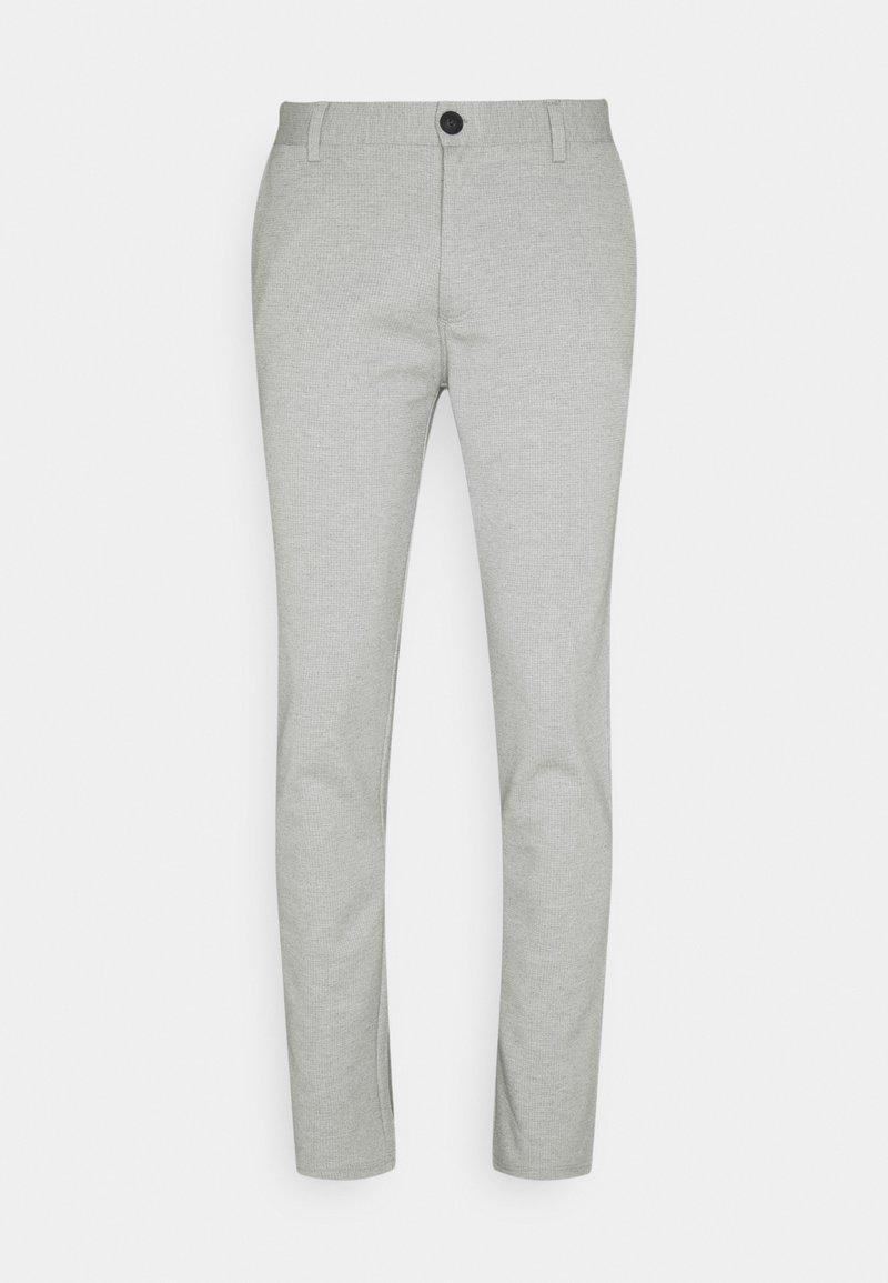 Blend - PANTS - Tygbyxor - light grey melange