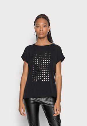SAPONTI PRINT - Print T-shirt - black