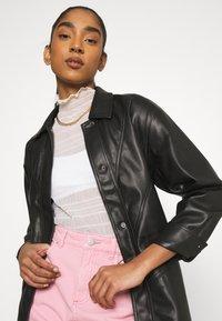 Topshop - BELTED SHAKETT - Short coat - black - 3