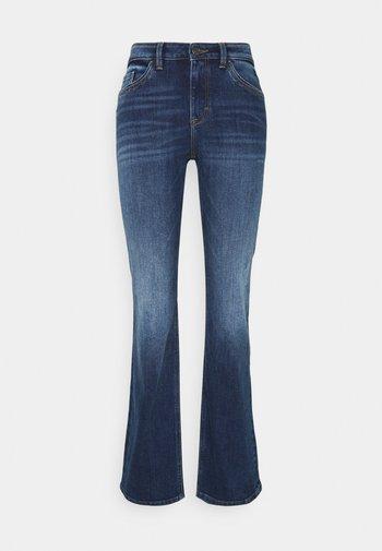 Flared Jeans - blue dark wash