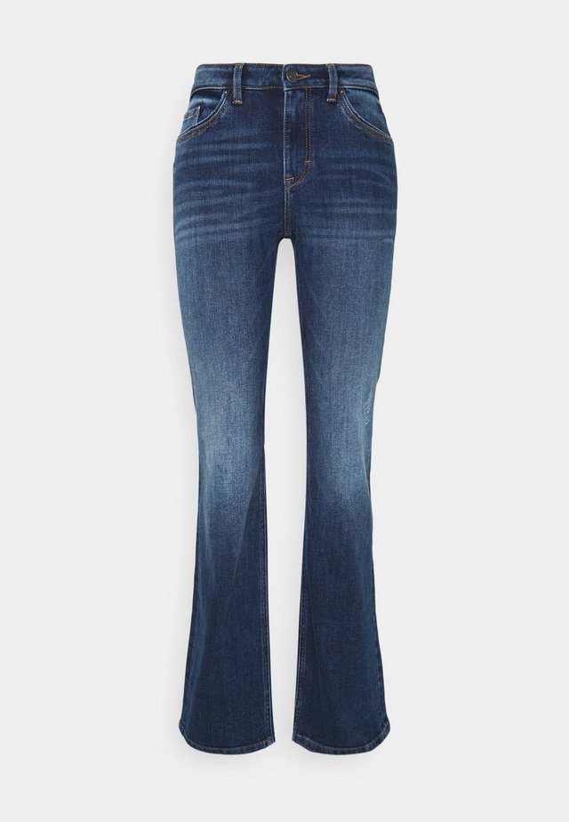 Flared Jeans - blue dark wash
