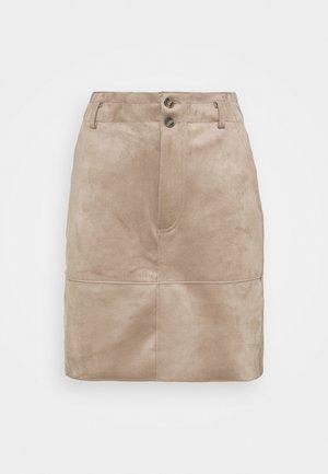 BONDED - Áčková sukně - taupe