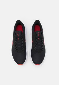 Nike Performance - DOWNSHIFTER 11 - Neutral running shoes - black/university red/white/dark smoke grey - 3