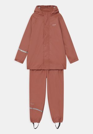 BASIC RAINWEAR SET UNISEX - Sadetakki - redwood