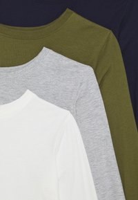 Friboo - 5 PACK - Long sleeved top - white/light grey/dark blue/black/green - 3