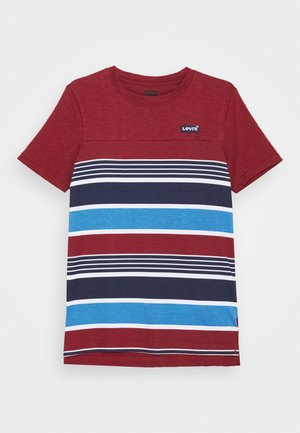 HIGH LOW HEM TEE UNISEX - T-shirts print - bordeaux