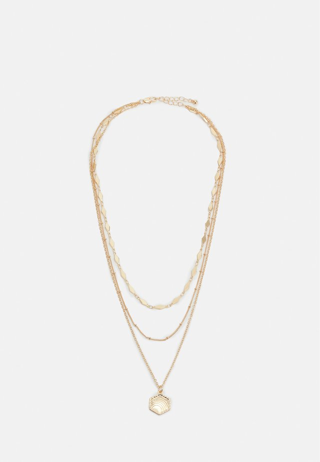 PCSELMA COMBI NECKLACE - Necklace - gold-coloured