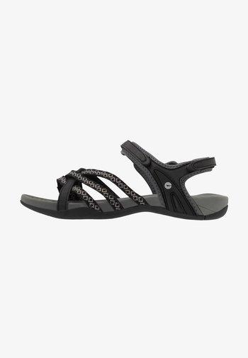 SAVANNA II  - Walking sandals - black/charcoal
