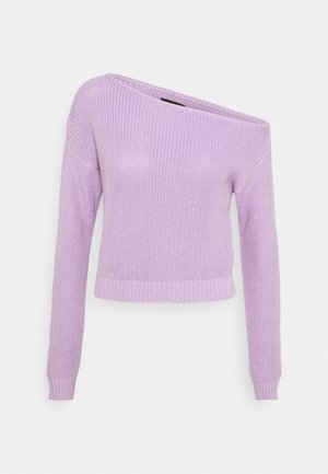 CROPPED OFF SHOULDER - Sweter - lilac