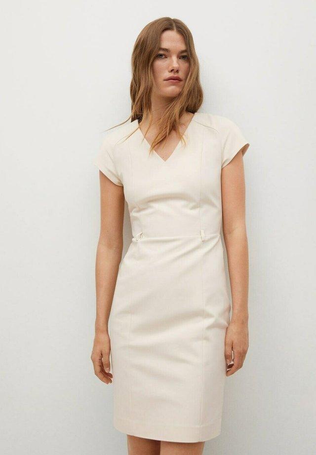 Shift dress - open beige