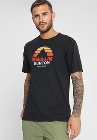 Burton - UNDERHILL - Print T-shirt - true black - 0