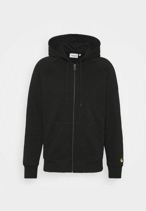 HOODED CHASE - Mikina na zip - black