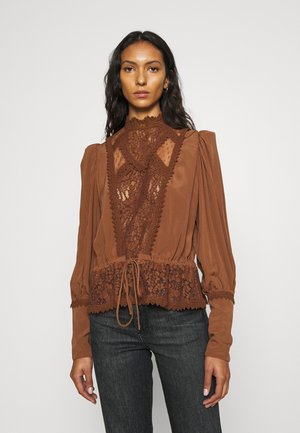 ELEGANT BLOUSE - Blouse - brown