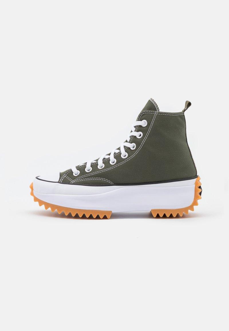 Converse - RUN STAR HIKE RECYCLED UNISEX - Sneakers hoog - cargo khaki/white/black