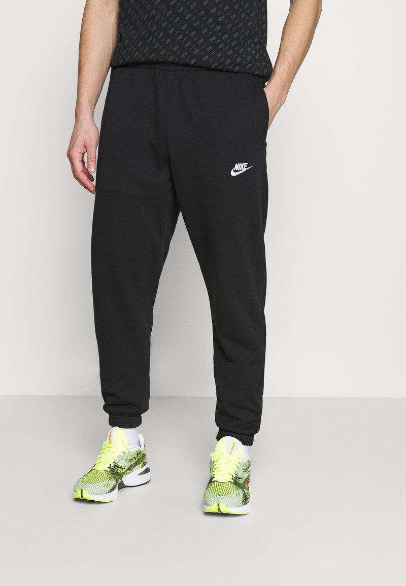 Nike Sportswear - CLUB PANT - Tracksuit bottoms - black/white