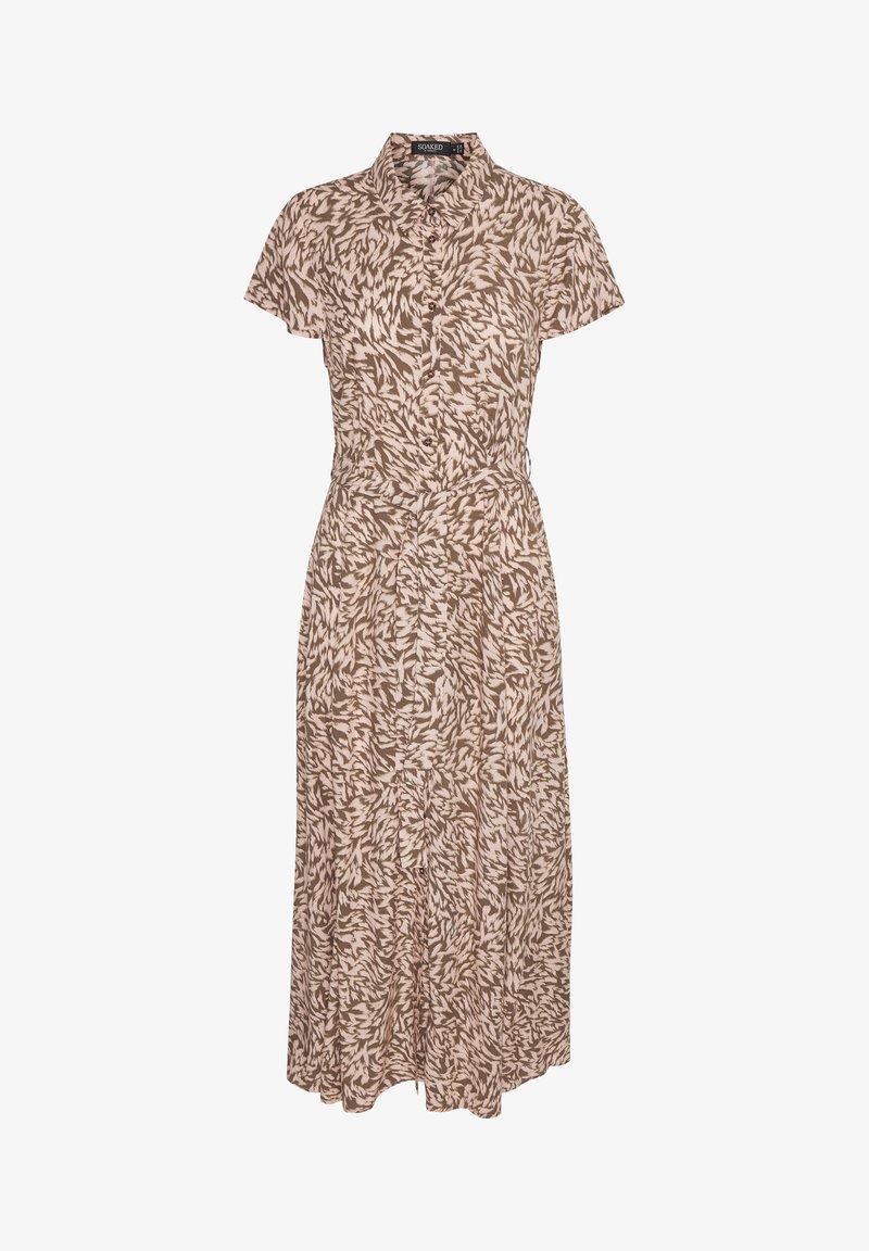 Soaked in Luxury - SLARJANA MAXI DRESS - Shirt dress - preppy animal peachy