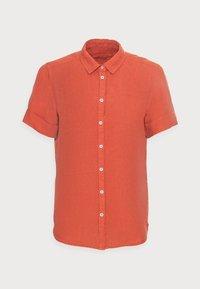 SHORT SLEEVED BUTTON THROUGH STYLE - Button-down blouse - burnt orange