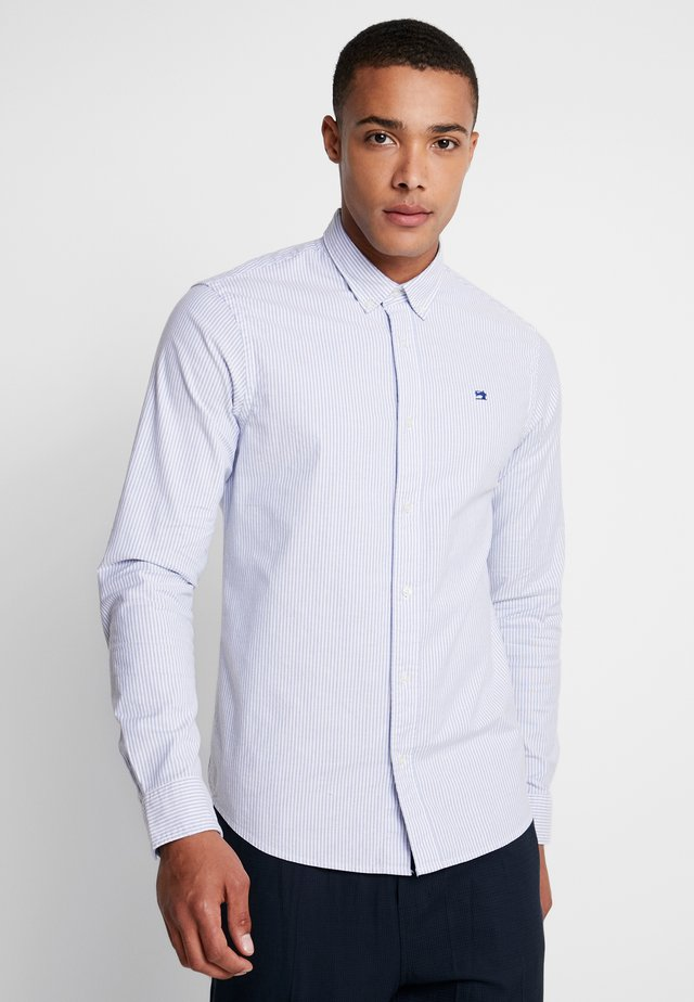 REGULAR FIT OXFORD SHIRT WITH STRETCH - Camisa - off white