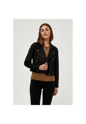 TABARAK - Faux leather jacket - black