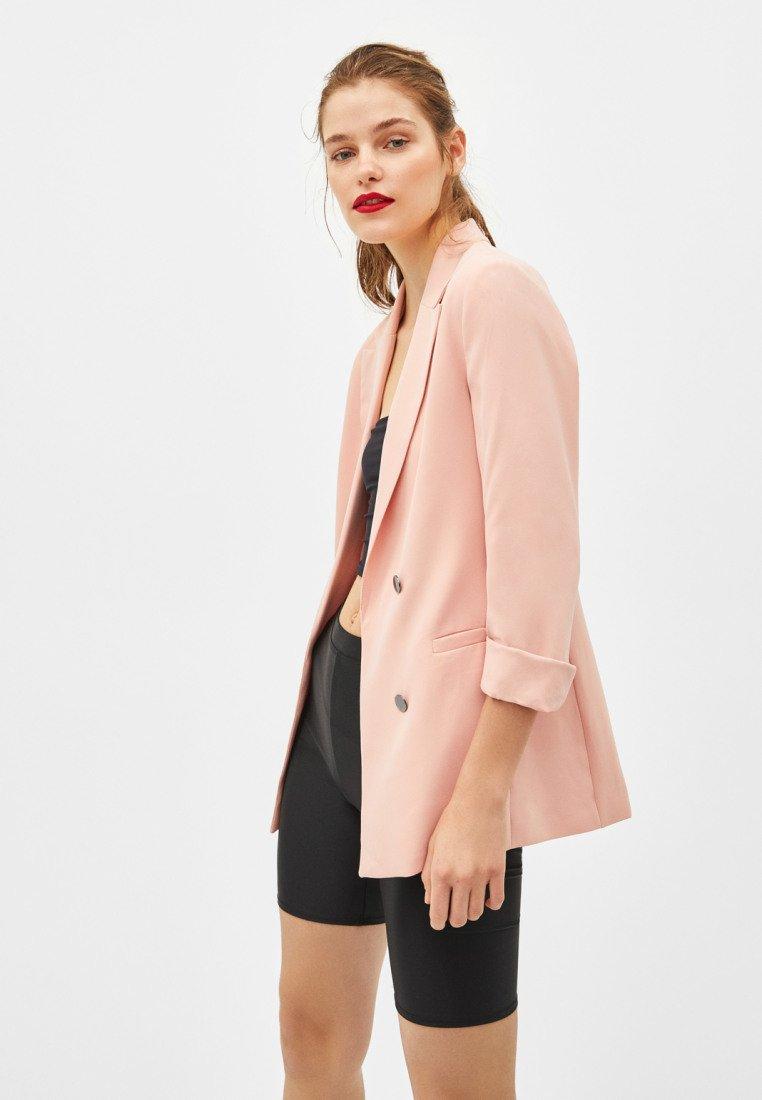 Bershka - Short coat - rose