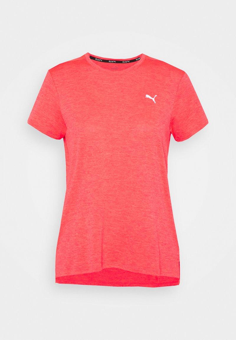 Puma - RUN FAVORITE TEE  - Print T-shirt - sunblaze heather