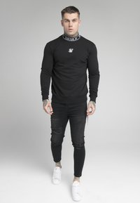 SIKSILK - ESSENTIAL HIGH NECK - Sweatshirt - black - 0