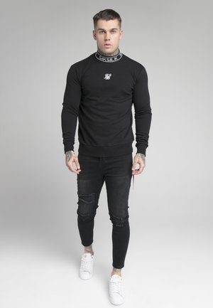 ESSENTIAL HIGH NECK - Sudadera - black