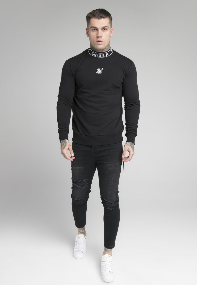 SIKSILK - ESSENTIAL HIGH NECK - Sweatshirt - black