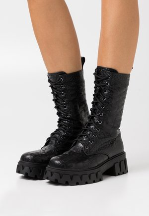 VEGAN FONTAINE - Platform-saappaat - black