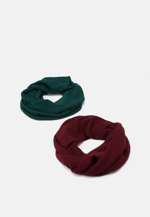 2 PACK - Szalik komin - bordeaux/green