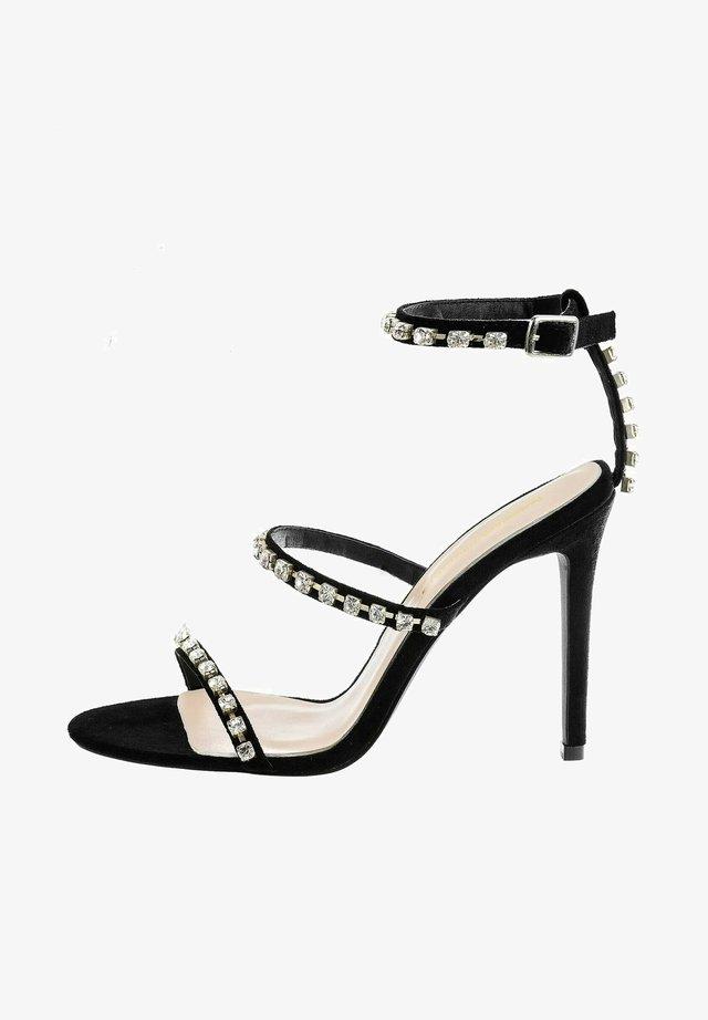 VECCHIA - Højhælede sandaletter / Højhælede sandaler - black