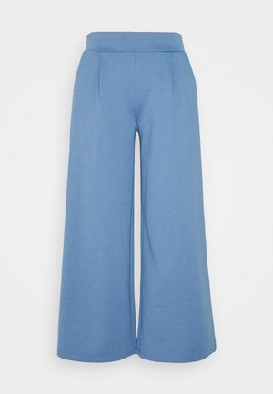 KATE WIDE - Trousers - coronet blue