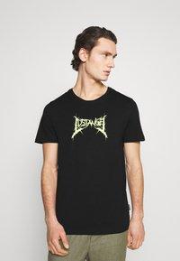 YOURTURN - UNISEX - Print T-shirt - black - 0
