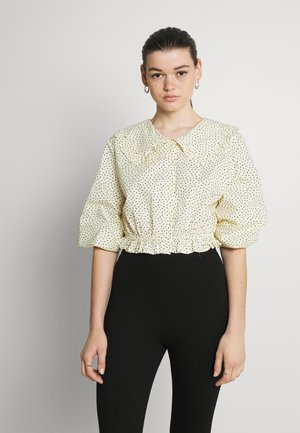 MILDA BLOUSE - Button-down blouse - beige