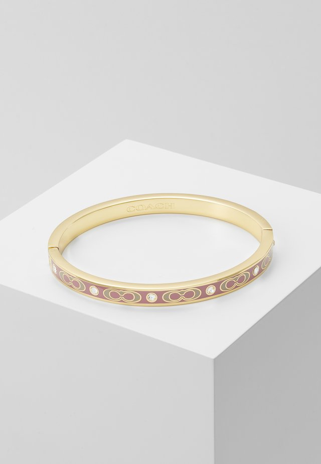 HINGED BANGLE - Armband - gold-coloured/dusty rose