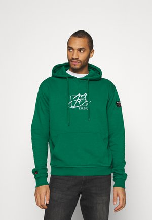 SCRIPT HOODED - Luvtröja - green