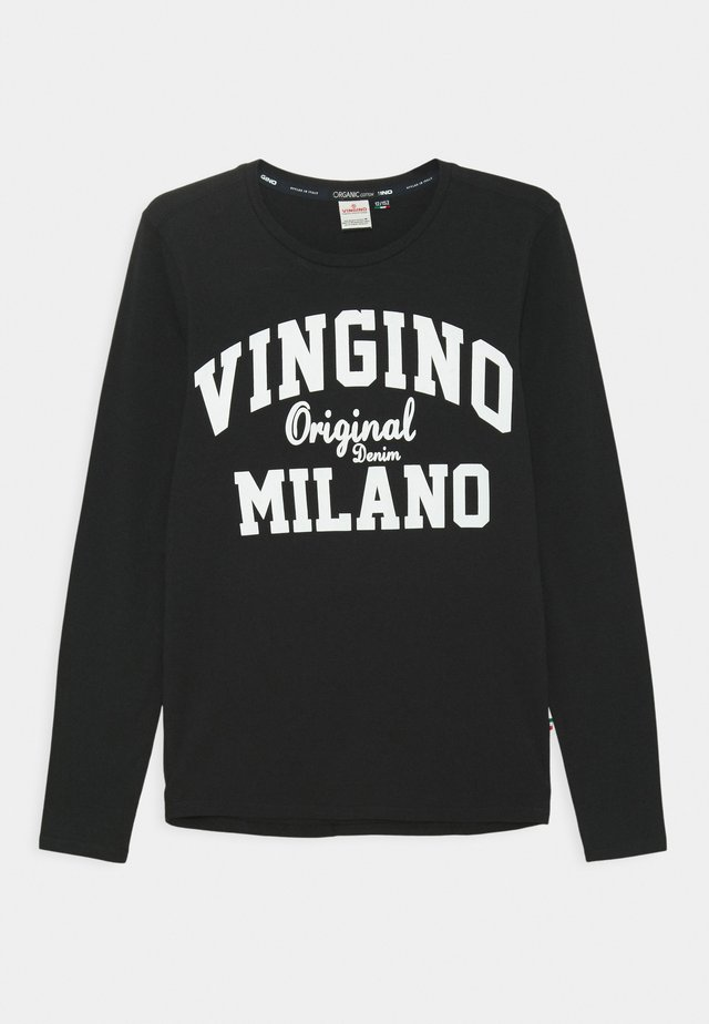 LOGO - Long sleeved top - deep black
