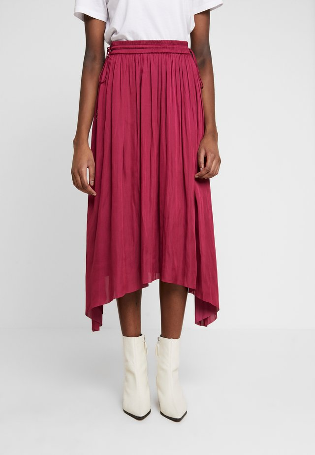 DAY GOSSIP - A-line skirt - lips