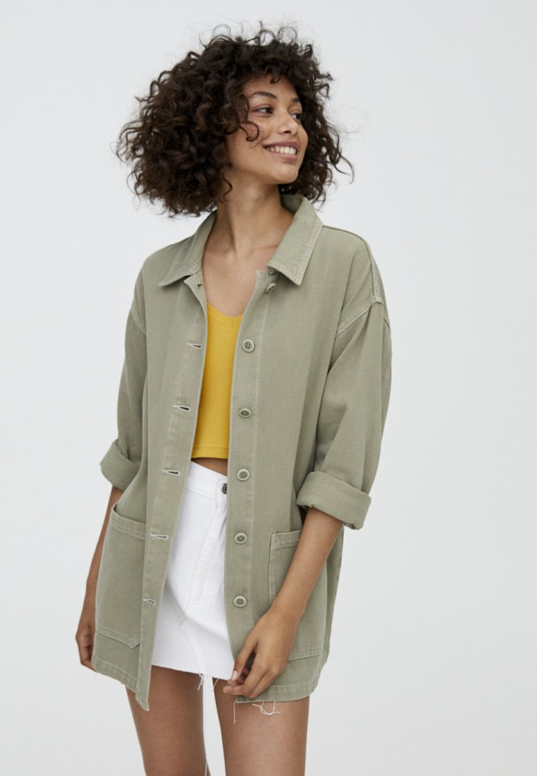 PULL&BEAR - IM WORKWEAR LOOK - Summer jacket - khaki
